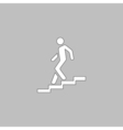 Down staircase computer symbol vector image