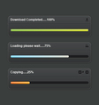 Download progress bar vector image vector image