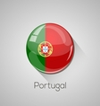 European flags set - Portugal vector image