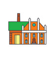 factory line icon concept factory flat vector image