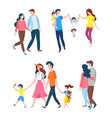 family leisure parents and kids couple vector image vector image
