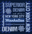 fashion jeans graphics typography artwork apparel vector image vector image