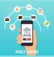 flat design concepts online payment methods vector image vector image