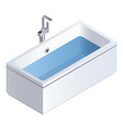 full water bathtub icon isometric style vector image vector image
