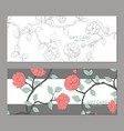 gift card with delicate flowers vector image vector image