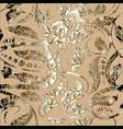 gold vintage ornamental seamless pattern ornate vector image