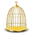 golden bird cage vector image vector image