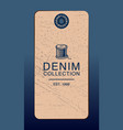 Hangtag for denim products