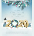 happy new year 2020 background with garland and vector image vector image
