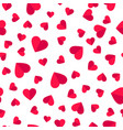 heart seamless pattern love valentine day romantic vector image