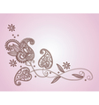 Henna mendi floral pattern vector | Price: 1 Credit (USD $1)