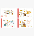 honey extracting landing page template set vector image