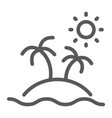 island line icon travel and tourism palm trees vector image vector image