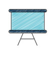 isolated blackboard design vector image vector image