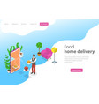 isometric flat landing page template for vector image
