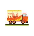 juice truck fast delivering of fresh fruit juice vector image vector image