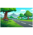 landscape forest and mountain at daytime vector image vector image