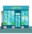 Light shop and store front icon flat style vector image vector image