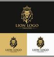 luxury lion king logo image vector image vector image