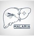 malaria logo icon design vector image vector image