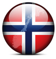 Map on flag button of Kingdom of Norway vector image vector image
