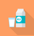 milk icon set of great flat icons design vector image vector image