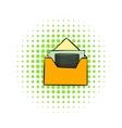 Money in envelope icon comics style vector image vector image