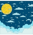 Night beautiful moonlit sky vector image