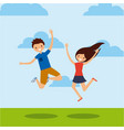 people having fun design vector image vector image