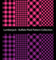 pink and purple lumberjack collection vector image vector image