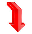 red arrow 3d down icon