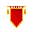 red royal flag heraldic symbol monarchy vector image