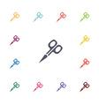 scissors flat icons set vector image vector image