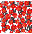 seamless floral background drawn by hand vector image vector image