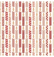 Seamless pattern with Christmas wax candles on vector image