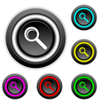 Search buttons set vector image vector image