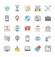 seo and marketing icons vector image vector image