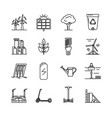 set energy and ecology line icons vector image vector image