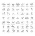 set natural ingredients vector image vector image