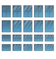Set of different windows vector image vector image