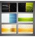 set of discount cards with circle pattern vector image vector image