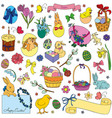set of easter symbols vector image vector image