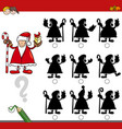 shadow game with santa claus vector image vector image
