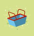 shopping basket flat vector image vector image