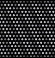 silver polka dots on black background vector image
