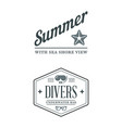 summer holidays design elements set retro vector image vector image
