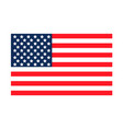 usa flag united states america vector image vector image