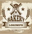 vintage bakery poster design - bakery label vector image