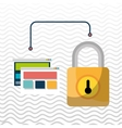web page padlock secure vector image