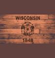 wisconsin flag brand vector image vector image